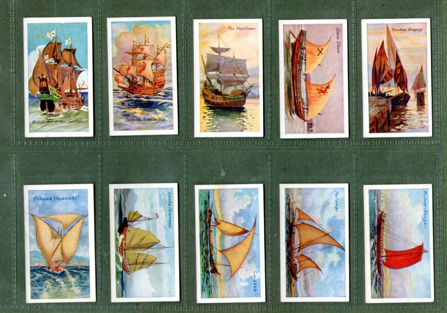Cigarette Cards Set Ships Of All Ages 1929 Chinese Junk